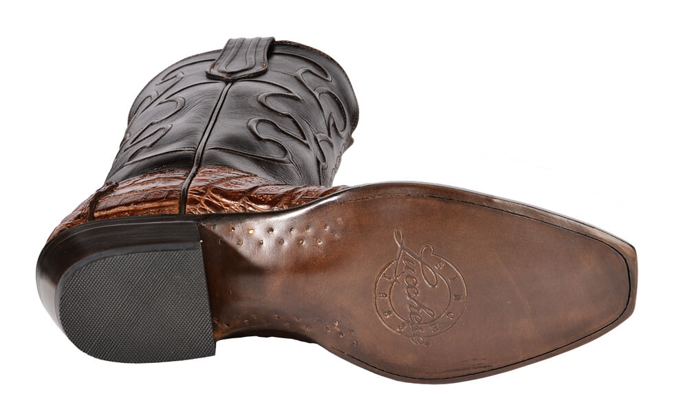 Lucchese Handmade 1883 Men's Charles Crocodile Belly Cowboy Boots - Snip Toe, Sienna, hi-res