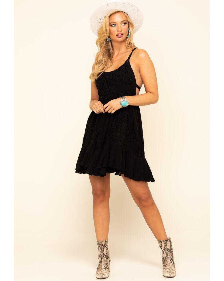 Free People Women's Encrusted Mini Dress, Black, hi-res