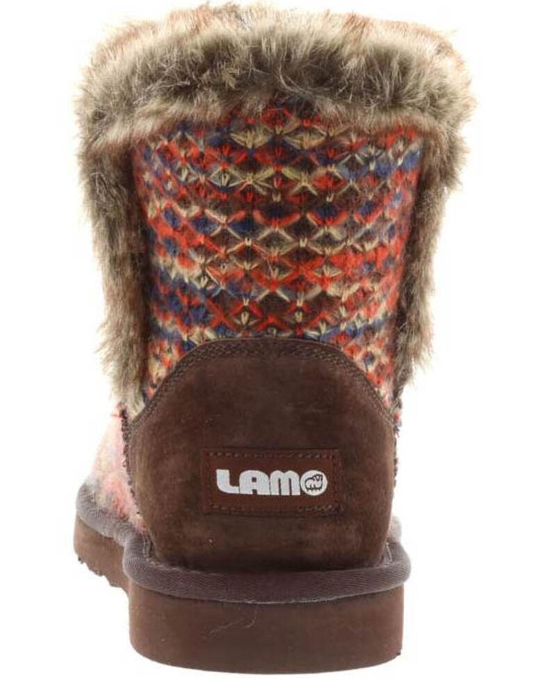 Lamo Women's Yuma Fleece Boots - Round Toe, Chocolate, hi-res