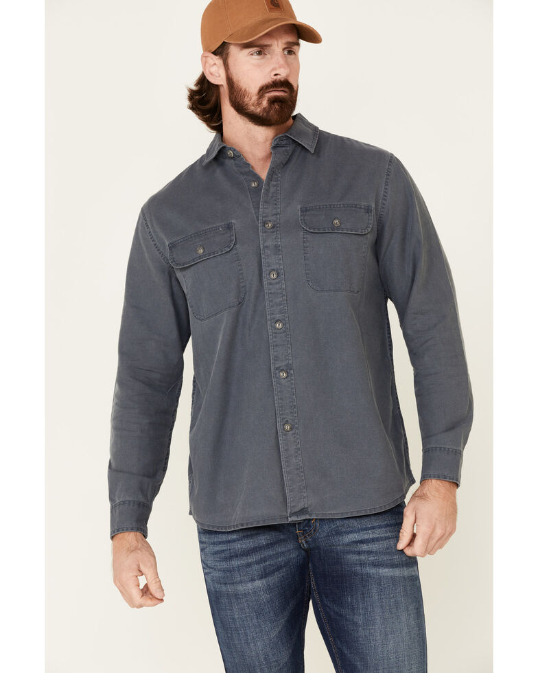 Pendleton Men's Solid Blue Beach Shack Long Sleeve Button-Down Western Shirt , Blue, hi-res