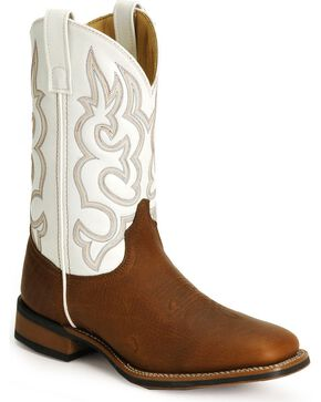 Laredo Rancher Cowboy Boots - Square Toe, Redwood, hi-res