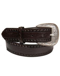 AndWest Men's Dark Brown Double Twisted Belt, Dark Brown, hi-res
