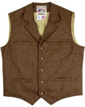 Schaefer Outfitter Men's 707 McClure Chocolate Herringbone Merino Wool Vest - Big, Chocolate, hi-res