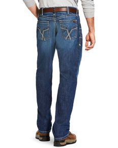 Ariat Men's FR M3 Vortex Loose Fit Jeans - Straight Leg, Blue, hi-res