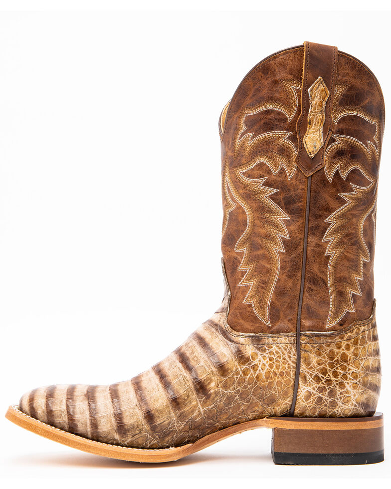 Cody James Men's Caiman Belly Western Boots - Wide Square Toe, Brown, hi-res