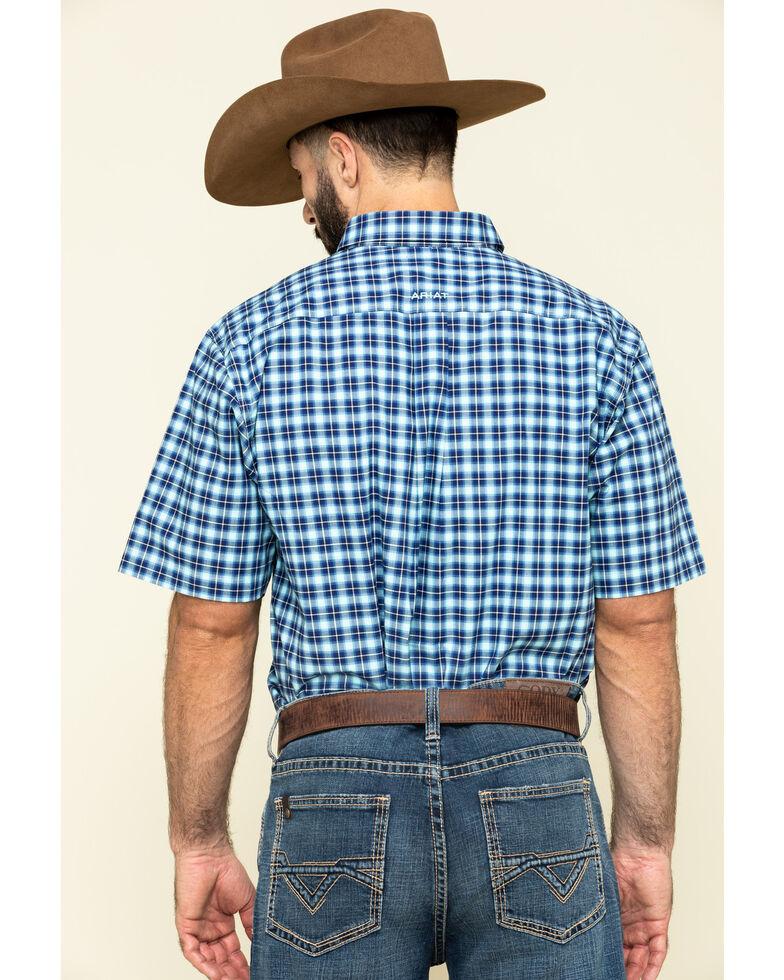 Ariat Men's Multi Stonegate Plaid Long Sleeve Western Shirt - Big , Multi, hi-res