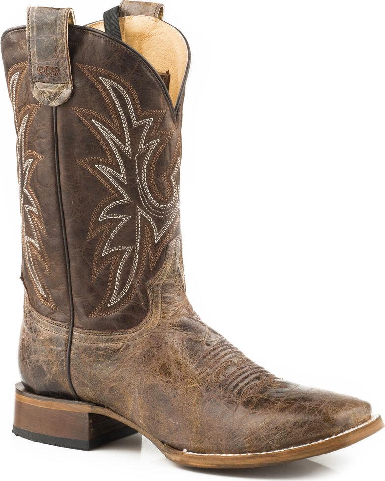 Roper Men's Pierce Sidewinder Concealed Carry System Cowboy Boots - Square Toe , Brown, hi-res