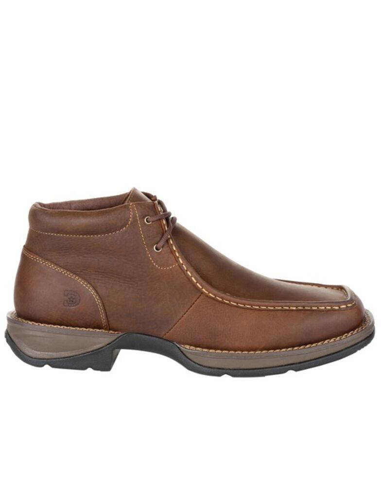 Durango Men's Red Dirt Rebel Chukka Shoes - Moc Toe, Brown, hi-res
