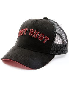 Shyanne Women's Hot Shot Embroidered Mesh-Back Ball Cap , Black, hi-res