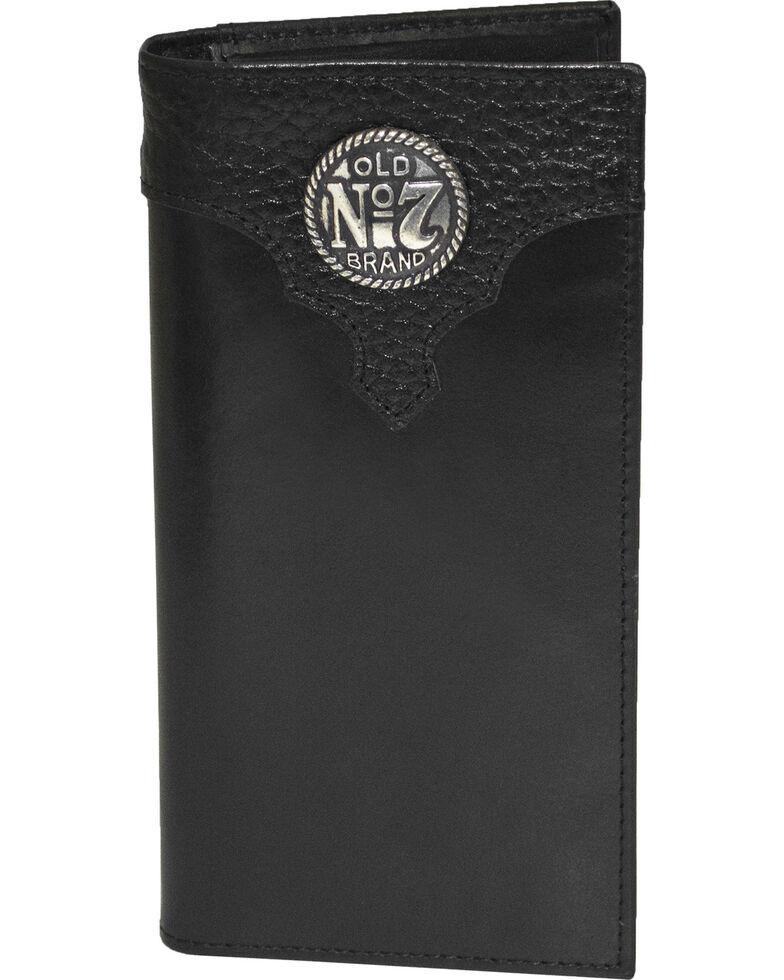 Jack Daniel's Men's Black Old #7 Leather Rodeo Wallet , Black, hi-res