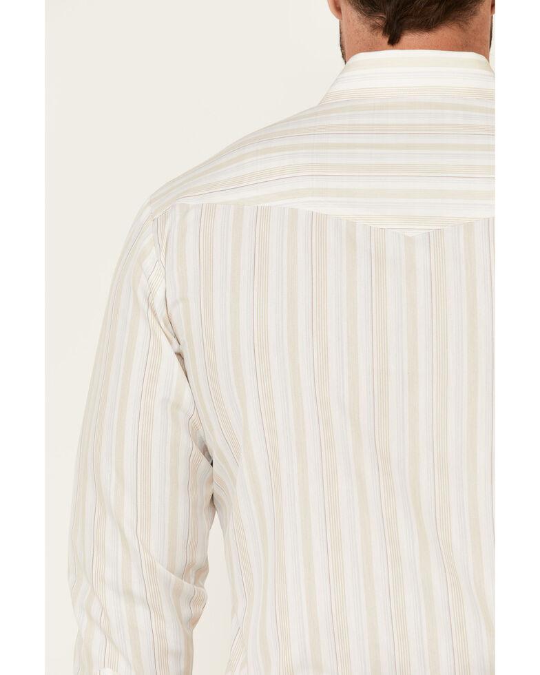 Roper Men's White Classic Striped Short Sleeve Snap Western Shirt , White, hi-res