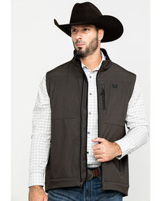 Cinch Men's Brown Concealed Carry Bonded Vest , Brown, hi-res