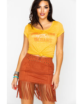 Idyllwind Women's Ladies Love Outlaws Tee, Dark Yellow, hi-res