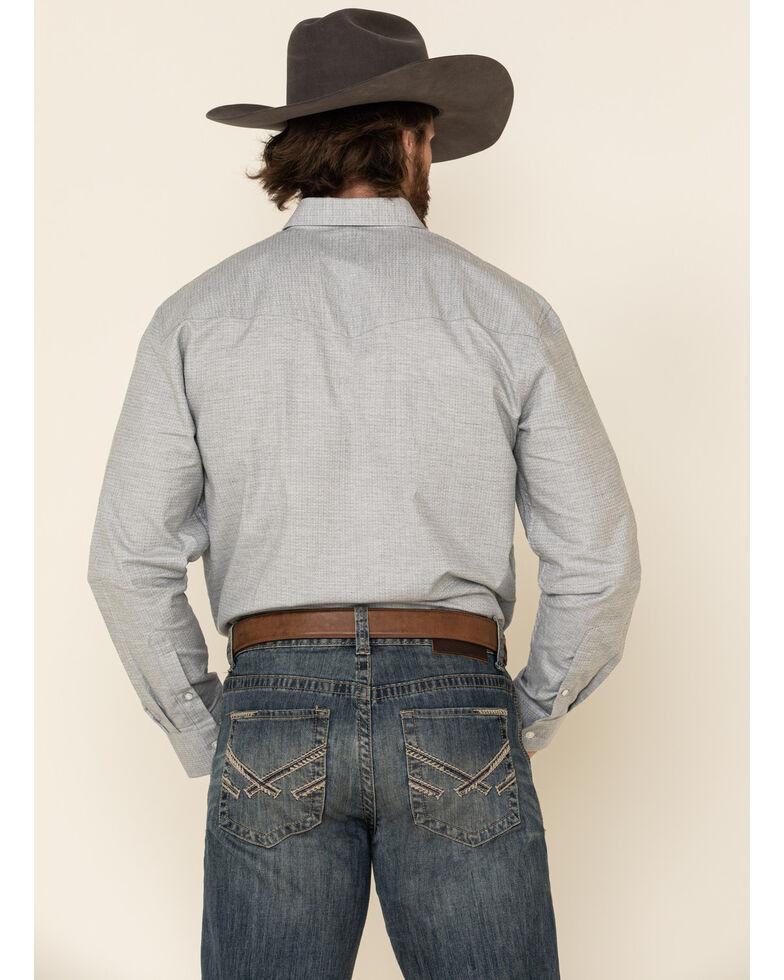 Resistol Men's Silver Textured Solid Long Sleeve Western Shirt , Silver, hi-res