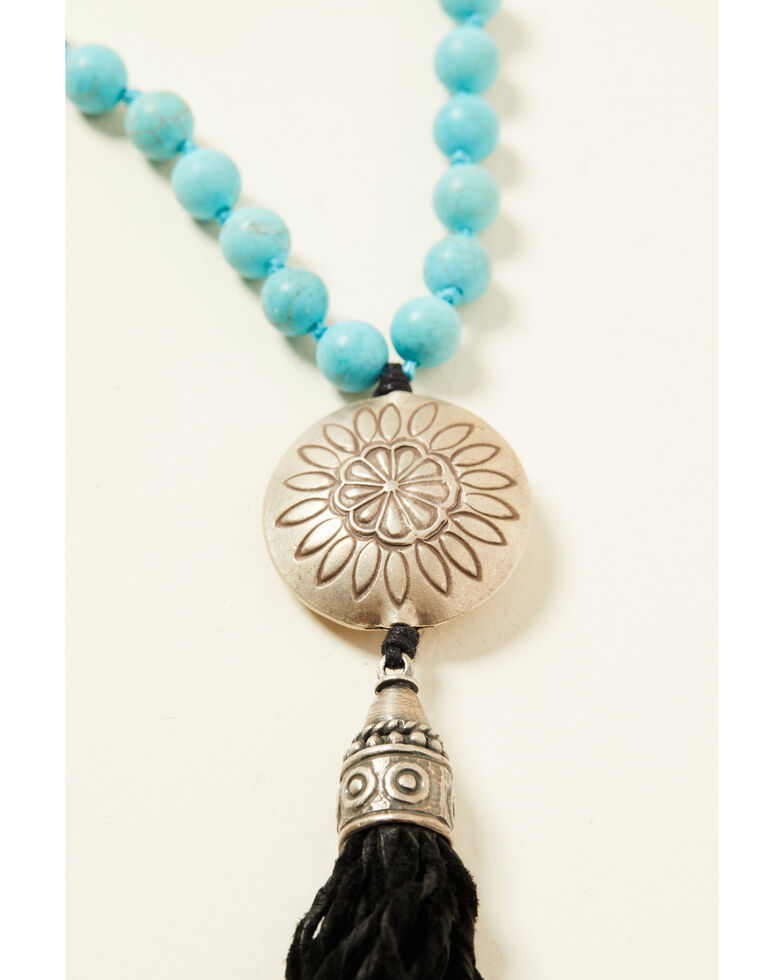 Double D Ranch Women's Fringe Turquoise Necklace, Turquoise, hi-res