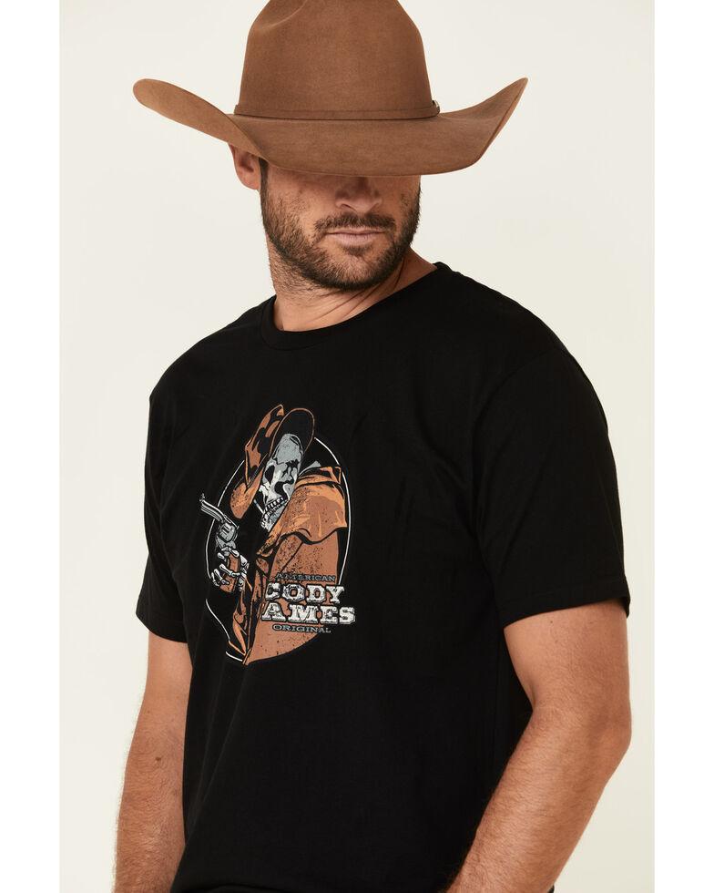 Cody James Men's Black Skull Slinger Graphic Short Sleeve T-Shirt , Black, hi-res