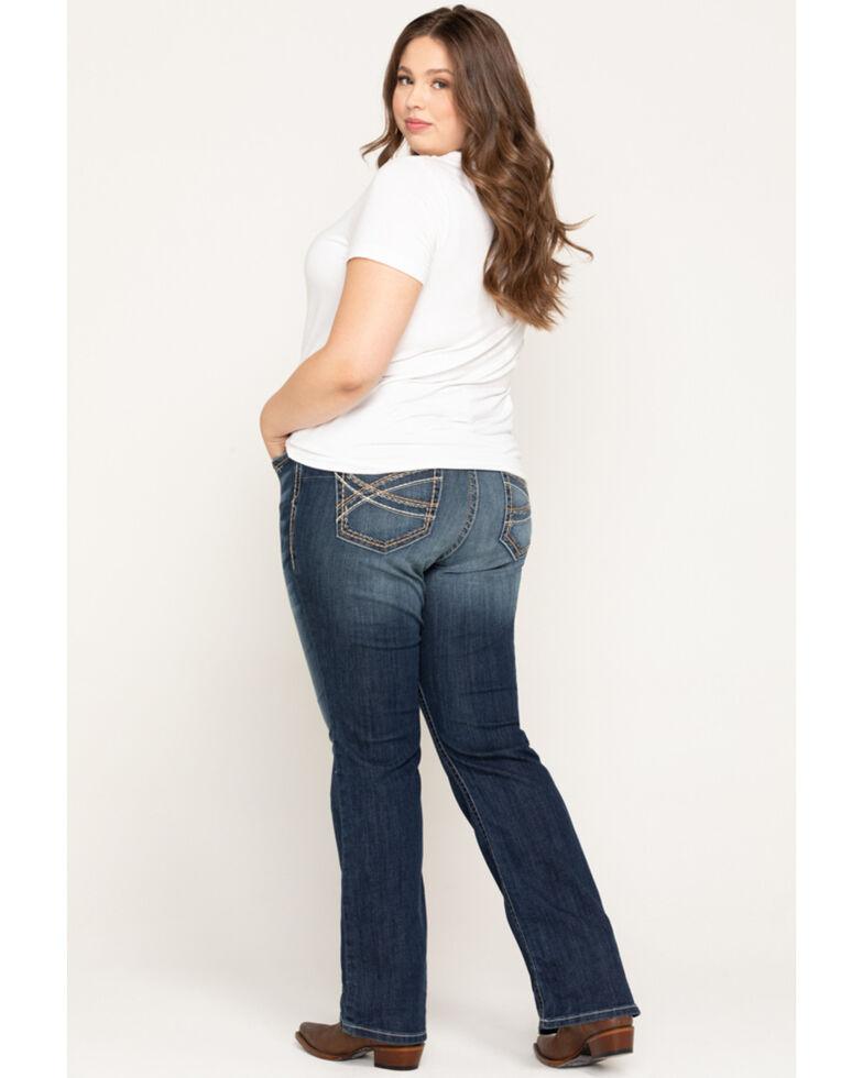 Ariat Women's Festival Blue R.E.A.L. Stretch Entwined Boocut Jeans - Plus, Blue, hi-res