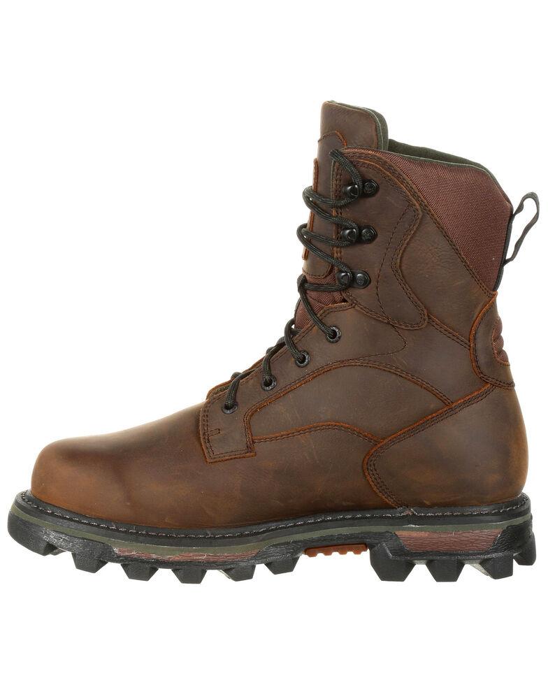 Rocky Men's BearClaw FX Insulated Waterproof Outdoor Boots - Round Toe, Dark Brown, hi-res