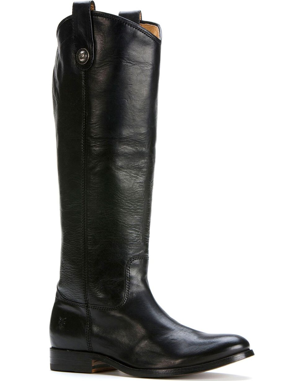 Frye Women's Melissa Button Riding Boots - Wide Calf, Wine, hi-res