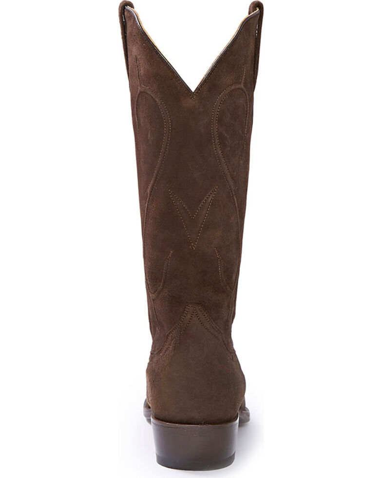 Stetson Women's Reagan Dark Brown Brown Rough Out Western Boots - Snip Toe, Brown, hi-res