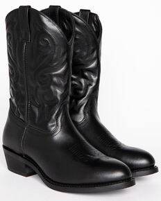 Cody James Men's Classic Black Western Boots - Medium Toe, Black, hi-res