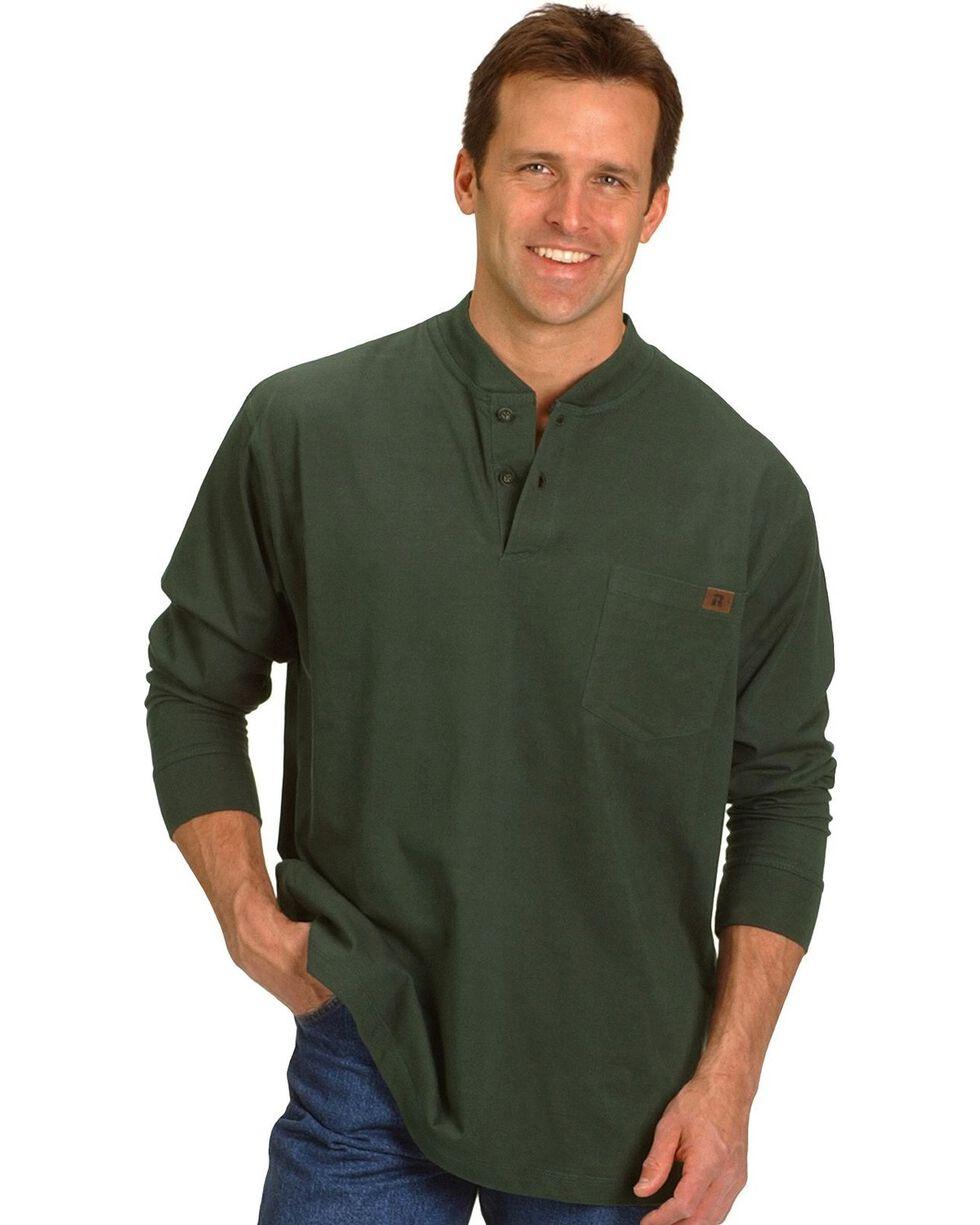 Wrangler Riggs Work Wear Henley, Forest Green, hi-res