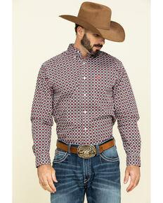 Ariat Men's Illton Aztec Geo Print Long Sleeve Western Shirt - Big , White, hi-res
