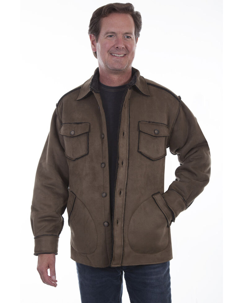 Scully Men's Faux Sherpa Lined Jacket, Brown, hi-res