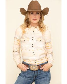 Shyanne Life Women's Blush Aztec Core Western Long Sleeve Western Shirt, Ivory, hi-res