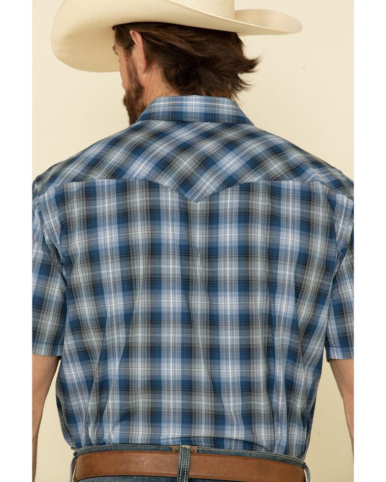 Pendleton Men's Blue Small Ombre Plaid Short Sleeve Western Shirt , Blue, hi-res