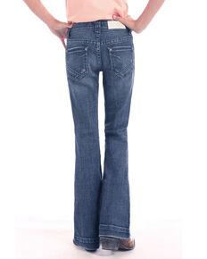 Rock & Roll Cowgirl Girls' Basic Pocket Trouser, Blue, hi-res