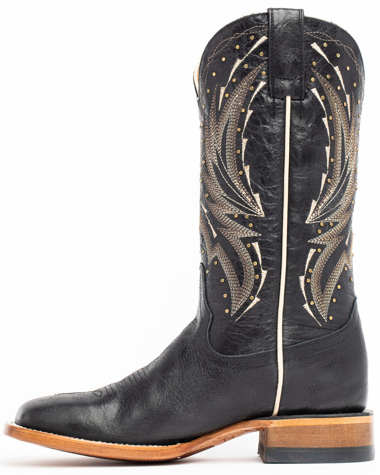 Shyanne Women's Studded Black Performance Western Boots - Wide Square Toe, Black, hi-res