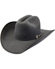 Justin Bent Rail Men's Granite 7X Hooked 2 Felt Cowboy Hat, Grey, hi-res