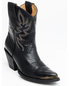 Idyllwind Women's Wheels Black Western Booties - Pointed Toe, Black, hi-res