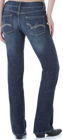 Wrangler Women's Dark Wash Boot Cut Jeans, Dark Blue, hi-res