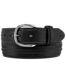Tony Lama Men's Bowie Bison Western Belt, Black, hi-res