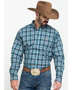 Cinch Men's Multi Large Plaid Plain Weave Long Sleeve Western Shirt , Multi, hi-res