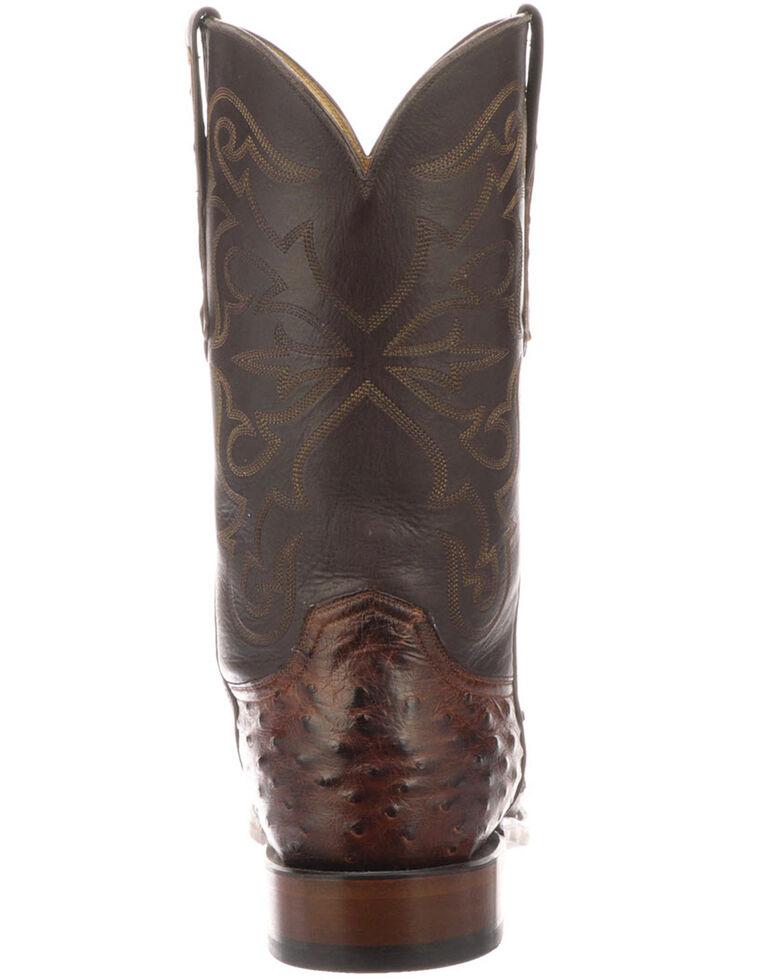 Lucchese Men's Hudson Exotic Western Boots - Medium Toe, Chocolate, hi-res