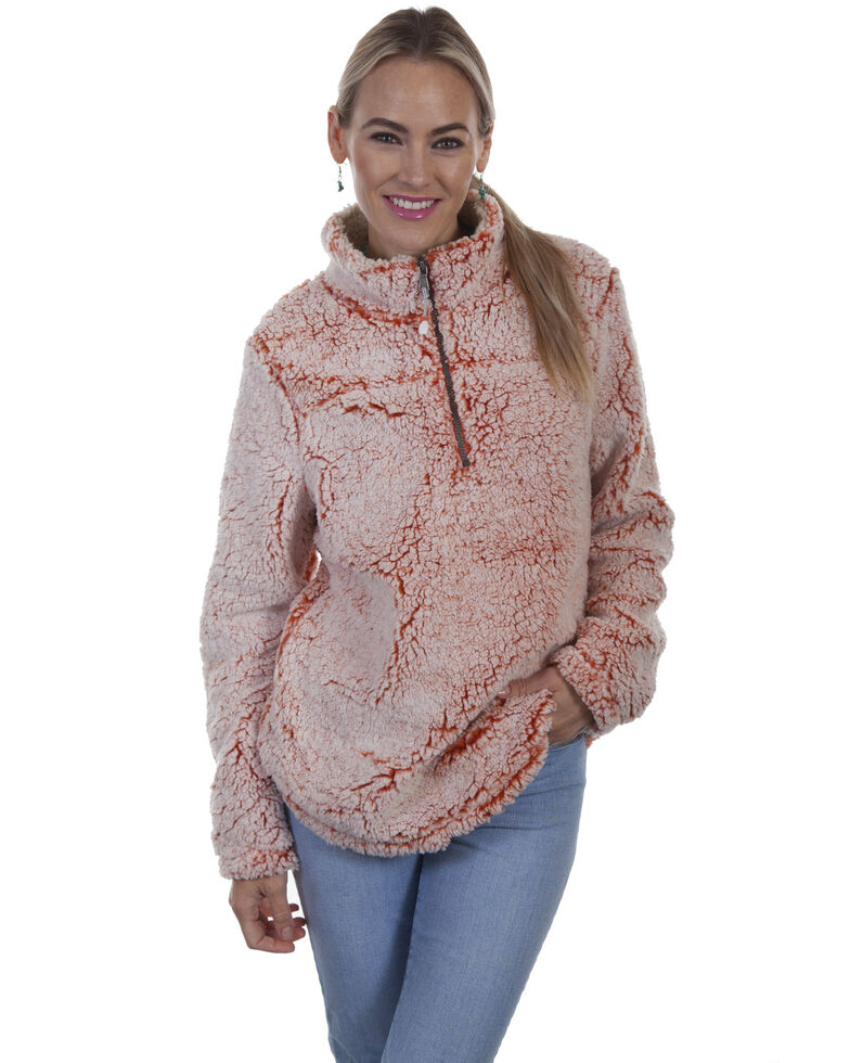 Honey Creek by Scully Women's Sherpa Pullover , Orange, hi-res