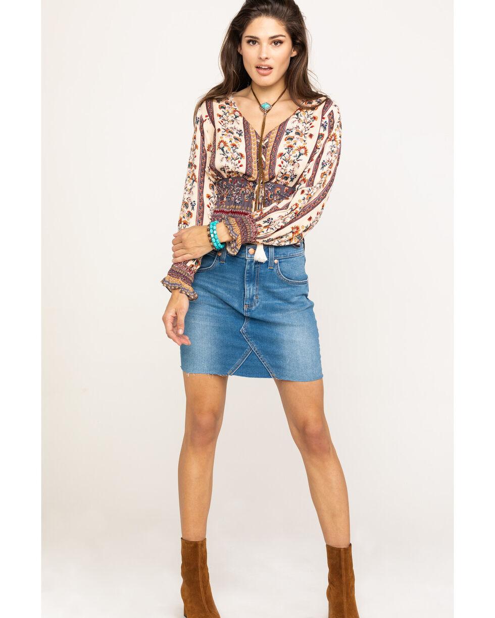 Wrangler Women's Modern Denim High Rise Mini Skirt, Blue, hi-res