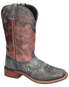 Smoky Mountain Men's Cumberland Western Boots - Square Toe, Black, hi-res