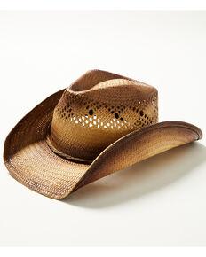 Cody James Men's Tan Meet The Boss Toyo Straw Western Hat , Tan, hi-res