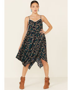 Molly Bracken Women's Hanky Hem Dress, Navy, hi-res