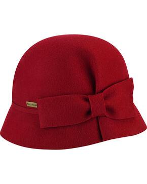 Betmar Women's Dixie Scarlet Cloche, Red, hi-res