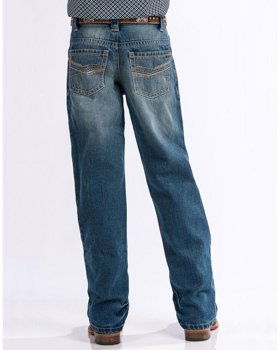 Cinch Boys' Medium Stonewash Relaxed Fit Boot Cut Jeans (8-18), Indigo, hi-res