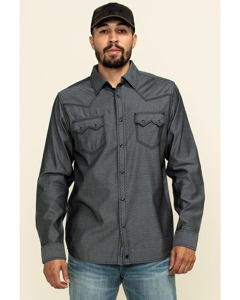 Moonshine Spirit Men's Cobra Geo Print Long Sleeve Western Shirt , Black, hi-res