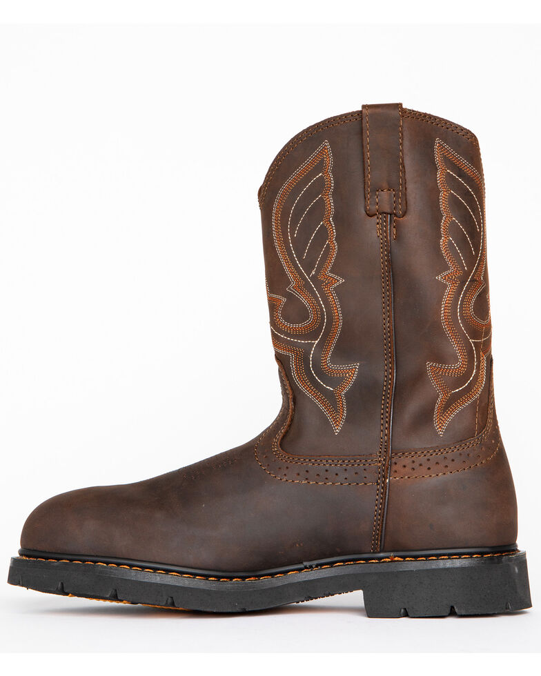 Cody James Men's Western Work Boots - Composite Toe, Brown, hi-res