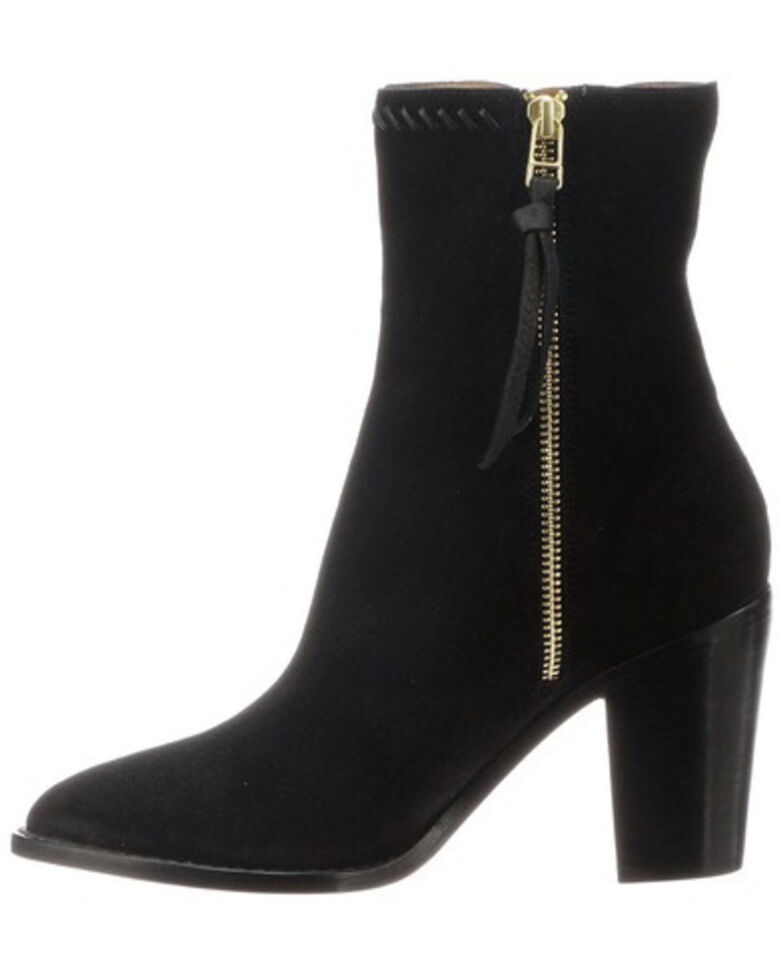 Lucchese Women's Black Allie Fashion Booties - Pointed Toe, Black, hi-res