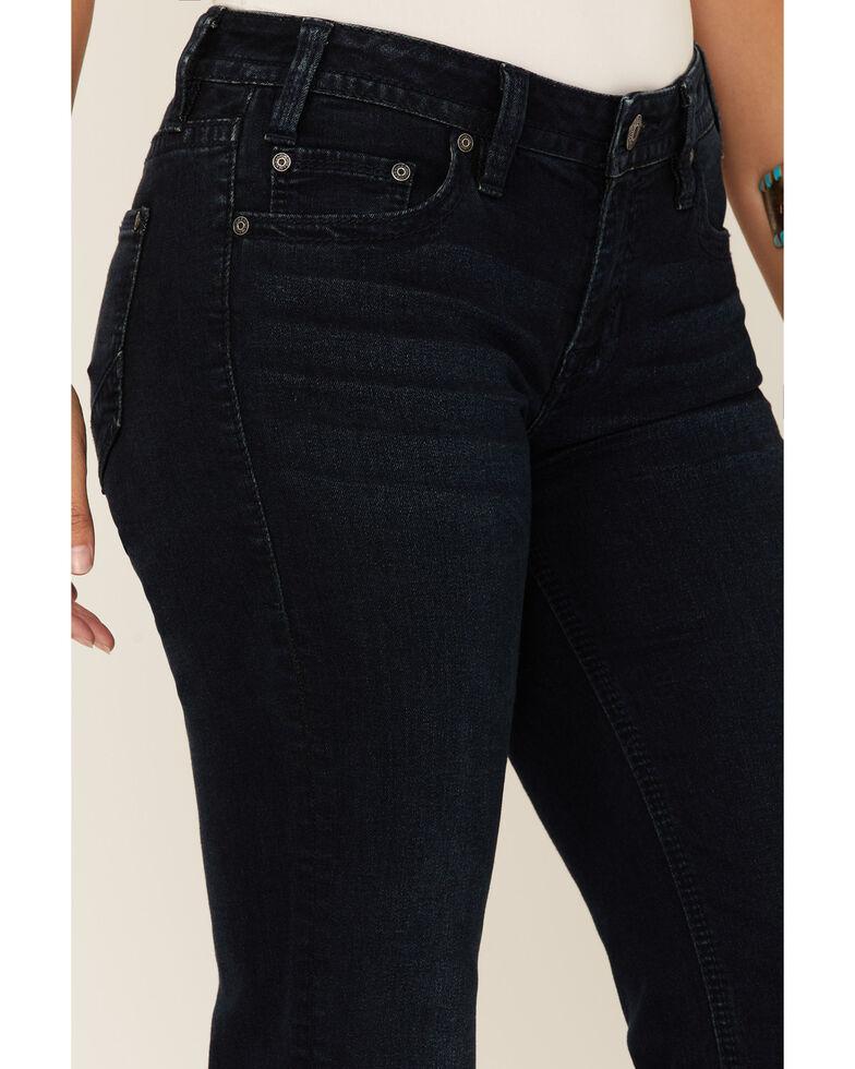 Rock & Roll Denim Women's Dark Mid-Rise Trousers, Blue, hi-res