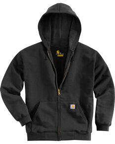 Carhartt Zip Front Work Hoodie, Black, hi-res